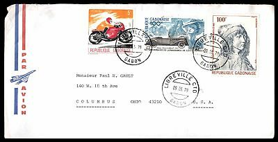 Libreville May 9 1979 Air Mail Cover To Columbus Oh Usa