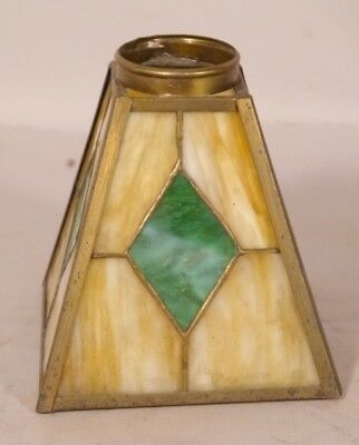 Antique Leaded Glass Arts & Crafts or MISSION Style Desk Lamp Shade # 3 of 3