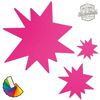 20 Pow Star Car & Wall Stickers / Decals | Choose from 30 Colours S8