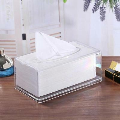 Acrylic Clear Tissue Box Cover Rectangular Napkin Car Office Paper Holder Hotel