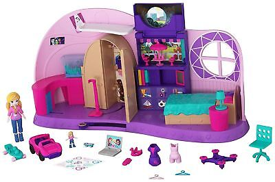 Polly Pocket Polly's Go Tiny Playset Inc Doll & Accessories NEW