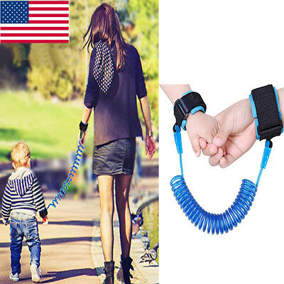Children Safety Harness Leash Anti Lost Bracelet Wrist Link Wristband Ropes US