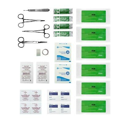Advanced Surgical Suture Kit, First Aid Medical Travel Trauma Pack, 29 Pieces