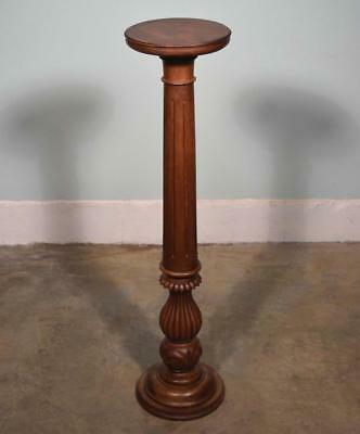 *Antique French Display Pedestal/Plant Stand or Pillar/Column in Solid Walnut
