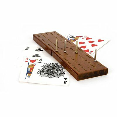 Classic Wooden CRIBBAGE CRIB BOARD & PLAYING CARDS SET PEGS  ~ Family Game