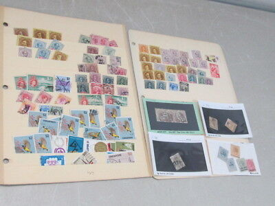 Nystamps British Malaya old stamp collection stock page with mint