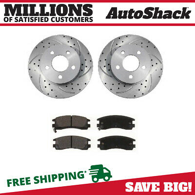 2 Front Set 1 Semimet Disc Pad Fits 1997-2005 Chevrolet Malibu Brake Caliper