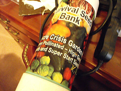 Emergency Food Survival Sealed Seed Bank 22 Variety Lbs 20 Years! 4 Pounds