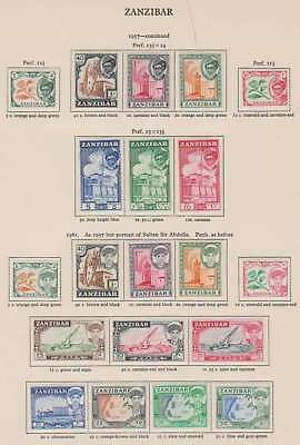 A1987: Zanzibar Mint Set Lot; CV $140