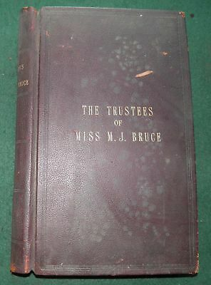 1886-1911 TRUST LEDGER for Miss Margaret Jane Bruce, 28 George Square, EDINBURGH