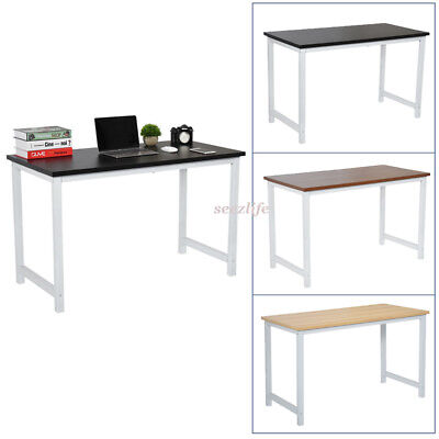PC Computer Desk Wooden Metal Home Office Writing Table WorkStation Furniture UK