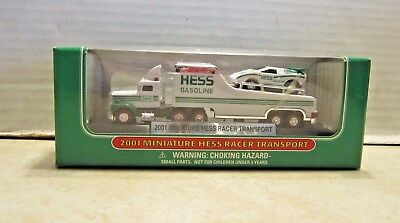 2001 Hess Miniature Semi Racer Transport Hauler MIB B116