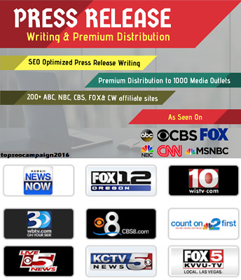I Will Write And Distribute Press Release To 1000 Major News Sites .Complex SEO