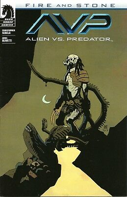 Aliens Vs Predator Fire And Stone # 1 / Mignola Variant Cover / Oct 2014 / N/m
