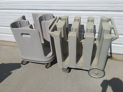 "Dish dolly carts (2) Metro PCD11 and CAMBRO 575, for 5.75 and 11"" dishes"