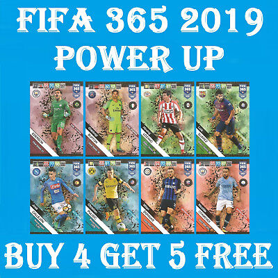 2019 FIFA 365 Adrenalyn - POWER UP - DEFENSIVE ROCK / KEY PLAYER / GAME CHANGER