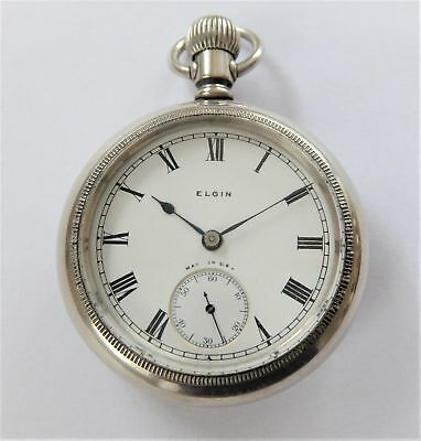 1921 Screw Cased Elgin English Lever Big Chunky (Size 18 ) Pocket Watch Working