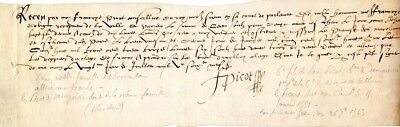 F. Picot, Counsellor to the King, French document   untranslated