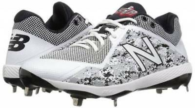 New Balance 4040v4 Metal Low Baseball Cleats White / Camo Dustin Pedroia Model