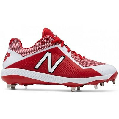 a8d28f56a1203 NEW BALANCE 4040V4 Metal Low Adult Men's Baseball Cleats Red & White ...