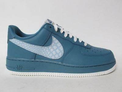 timeless design 4e3e9 ec3ce Nike Air Force 1 Low LV8 Noise Aqua Summit Leather Shoes Quilted Tongue Mens