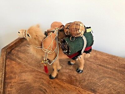 Vintage Camel Figure Figurine traditional woven accessories as pictured
