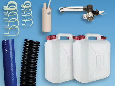 Plumbing Kit for Campervan Sink,Tap & Pump & 10L Water Containers Suit Smev 8005