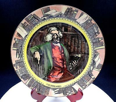 "Royal Doulton Rare Professional Series Ware The Bookworm 10 1/4"" Cabinet Plate"