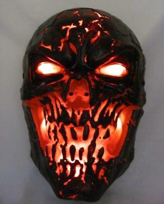 NEW! Cracked Skull Red  Light Up HALLOWEEN Costume Mask - Free Shipping