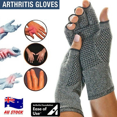 Arthritis Compression Gloves Hand Wrist Support Joint Finger Pain Relief Brace A