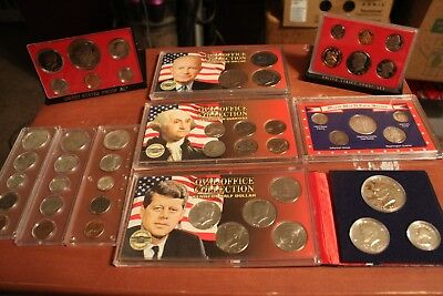 U.S. Coin Sets Lot - Year sets, Proof sets, WWII series, Oval Office sets + more