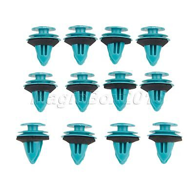 100 x Fastener Plastic Clips Rivets For Fit engine compartment trunk universal