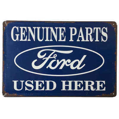 Ford Genuine Parts Metal Tin Sign Car Shed Garage Man Cave 30cmx20cm - New