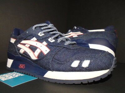 outlet store 1c0fe 64336 ASICS GEL-LYTE III 3 Ronnie Fieg Selvedge Denim Blue White Red H20Ck-5001 10
