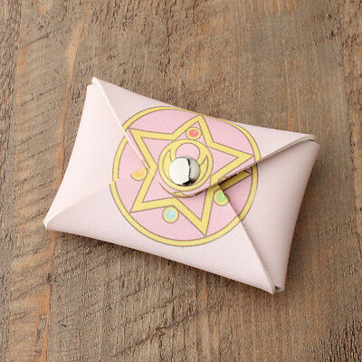 Anime Sailor Moon Star Key Bag Coin Pouch Case Snap Purse Prism Pink Mini Wallet
