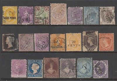 BRITISH COMMONWEALTH QV group of better all with FAULTS (20) CV £ High