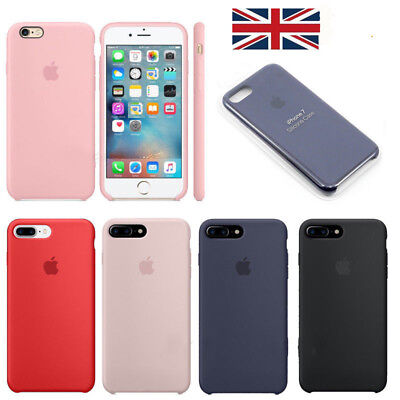 Genuine Original Official Case For Apple iPhone 6s 7 8Plus X Cover Thin Silicone