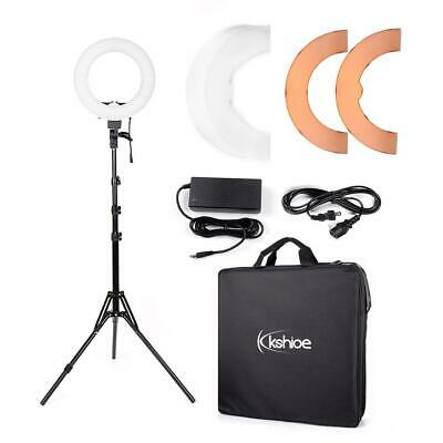 "12"" LED Photography Camera Ring Light Dimmable 5500K Lighting Photo Video Stand"