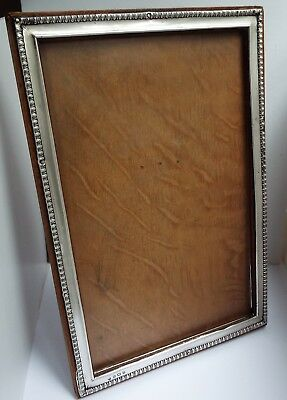 Superb Rare Large 12 Inch English Antique 1912 Solid Sterling Silver Photo Frame