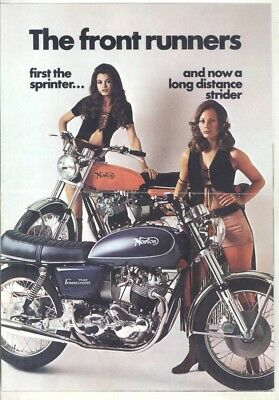 1971 1972 1973? Norton 750 Commando Interstate Motorcycle Brochure Poster wz6619
