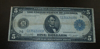 Nice 1914 Large Size Federal Reserve Note!!   Chicago