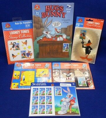 Looney Tunes Variety Pack: Stamps, Notecards, Comic Book, Puzzle Postcards, Etc