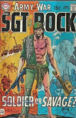 Our Army At War #220  Sgt.rock & Easy Co.  Joe Kubert  Dc  1970