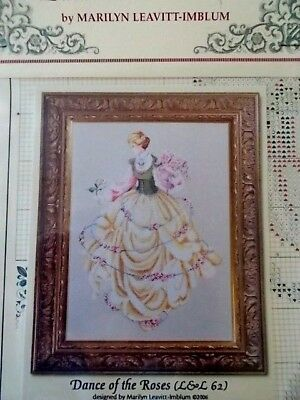 "Cross stitch Chart "" Dance of the Roses "" New by Lavender & Lace"
