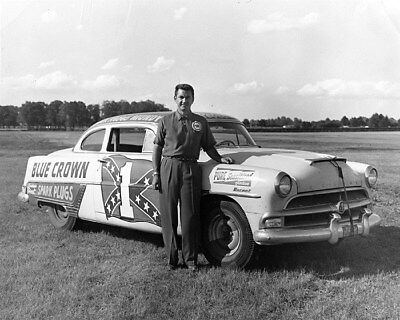 1954 Hudson Hornet Frank Mundy NASCAR Race Factory Photo cb1770