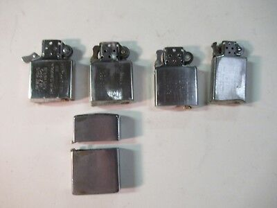 Vintage Lot of Zippo Lighters guts