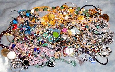 Vintage to Now Estate Junk Drawer JEWELRY Lot Unsearched Wear/Harvest Lbs WR4