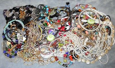 Vintage to Now Estate Junk Drawer JEWELRY Lot Unsearched Wear/Harvest Lbs WR5