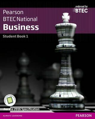 BTEC Nationals Business Student Book 1 + Activebook For the 201... 9781292126241