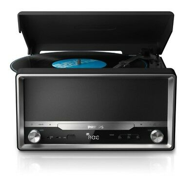 Philips OTT2000B Retro Soundsystem ,Bluetooth, LP-Wiedergabe, USB Rip, CD MP3